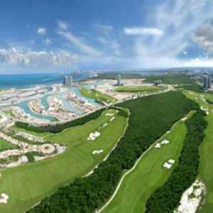 Puerto Cancun GC: Aerial